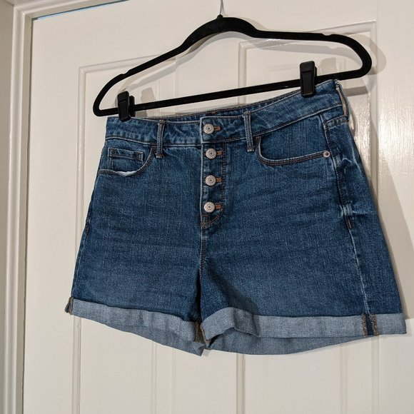Old Navy High Rise Button Fly Jean Shorts
